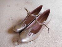 Hotter Bronze Metallic Shoes