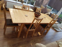 """DINIG TABLE AND SIX CHAIRS """"VERY LARGE EXTENDABLE"""""""