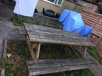 A frame picnic bench forsale
