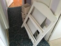 White Changing Table With Wicker Baskets