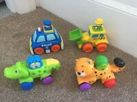 Toy Press & Go Push'n'Go Cars Vehicles Fisher Price Crocodile Cheetah Smyths Tractor Police Car
