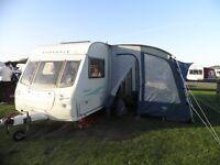 2005 Avondale Dart 2 berth caravan, rear bathroom, all accessories, serviced