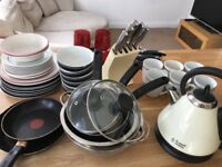 Kitchen set - cutlery, plates, crockery, microwave, kettle, toaster - must go this week - bargain!