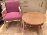 Table and chair brand new