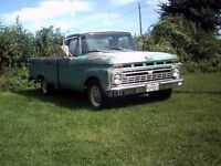 1966 Ford F100 classic pick-up V8 texas import, UK reg Great patina Drive anywhere