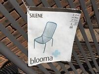 Garden table chairs x 6 - brand new never used B&Q Silene Blooma. Range