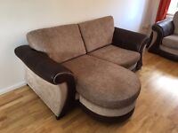 DFS 3 SEATER FORMAL BACK LOUNGER AND 2 SEATER FORMAL BACK SOFAS