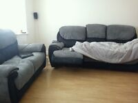 2 and 3 seater sofa set, reclining, 5 years old