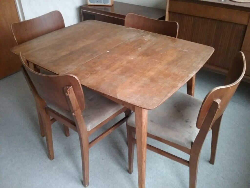 Vintage Wrighton Dining Room Table And Chairs In Reigate Surrey Gumtree