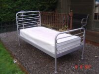 Three Foot Single Bed with a Clean Three Foot Mattress. Will Sell Separately . Can Deliver.