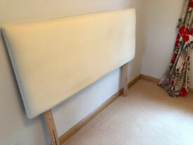 Kingsize Bed Headboard in Cream - Immaculate