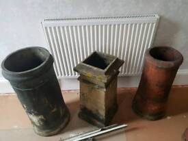 3 chimney pots