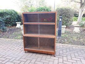Retro 1960's Minty Oxford Glaze Front Bookcase