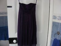 Purple Sparkly Strapless Dress Size 8 New With Tags.