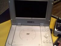 ACOUSTIC SOLUTIONS PORTABLE DVD PLAYER, BOXED WITH POWER AND REMOTE