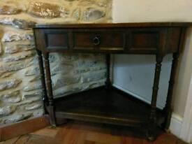 Vintage corner table