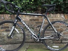 Cannondale CAADX 105 disc cyclocross road bike 56cm frame size 2015 with SPDsl pedals
