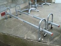 HEAVY DUTY SMALL VAN / CAR ROOF BARS WITH FITTINGS COST £85 QUICK SALE ONLY £20