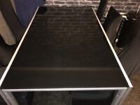 Black gloss dining table used