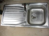 Stainless sink with mixer tap for sale