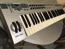 EMU XBoard 61 midi keyboard controller and stand