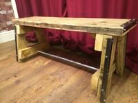 Rustic Design A Frame Bench - Reclaimed Materials - Can Deliver