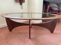 G plan vintage Astro oval coffee table