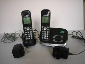Panasonic digital cordless answering system (2 handsets)