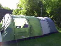 Vango Icarus 500 tent & front enclosed canopy