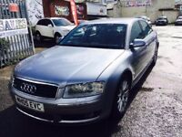 AUDI A8 3.0 TDI QUATTRO DIESEL AUTOMATIC 2005 SAT NAV LEATHER SEATS KEY LESS ENTRY
