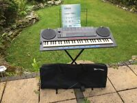 Yamaha keyboard PSS-790, used, with music stand, manual, and carry case in excellent working order