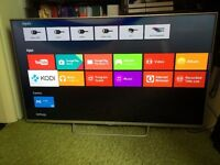 "Sony 43"" 4K Android Smart LED TV with Kodi Installed for free sky channels. Almost New"