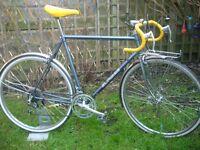 Vintage retro road bike.