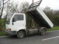NISSAN CABSTAR 2.7 TURBO DIESEL TIPPER DROPSIDE TRUCK, 101000 MILES, IDEAL EXPORT, NO VAT