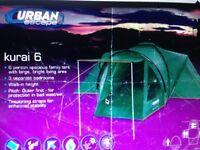 Tent- Urban Escape Kurai 6 man tent £95