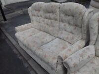 Quality 3 seater sofa and 2 Chairs Very Good Condition FREE delivery
