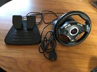 Trust GXT 27 Steering Wheel and Foot Pedals