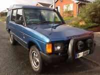 Land rover discovery, runs on diesel or waste cooking oil, rear winch plus extras, SPARES/REPAIR