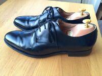 Churches Paris Capital Black leather mens handmade formal shoes, size 9.5F, RRP £310
