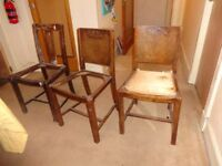 3 wooden chair frames for sale
