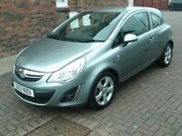 2012 12 VAUXHALL CORSA 1.2 ACTIVE 3 DOOR ** MOT MAY 2019 ** ONE OWNER FROM NEW ** HALF LEATHER **