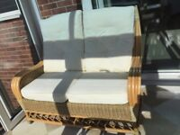 Cane Conservatory Furniture, 6 Seat Suite, Two x 2 Seater Sofas 2 x Armchairs.