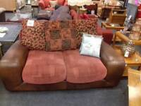 Comfortable fabric/leather sofa