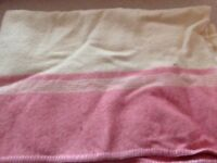 Vintage cream wool blanket