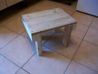 Butchers block style table