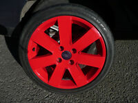 "FORD 4 STUD 17 "" ich Alloy wheels Focus TDCI sport MP3 refurbed red TOYO Tyres fit fiesta mondeo"