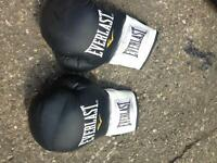 Junior boxing punch bag , gloves and bracket