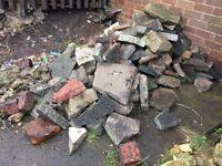 Free hardcore rocks paving slabs bricks rubble etc