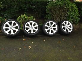 BMW 20 IN ,7 SPOKE ALLOY WHEELS AND TYRES