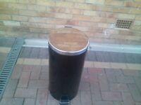 Black and chrome kitchen bin